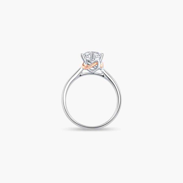 Destiny Solitaire Diamond Engagement Ring in Duo Tones