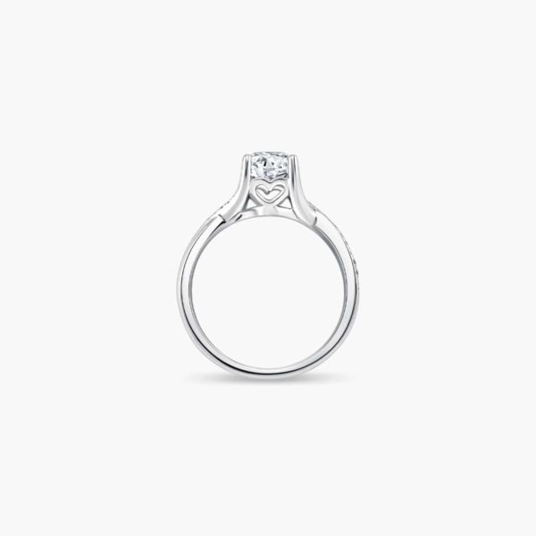 Destiny Twist Solitaire Diamond Engagement Ring in 6 prongs