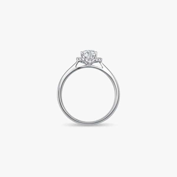 Endear Diamond Engagement Ring in Heart Shaped Setting