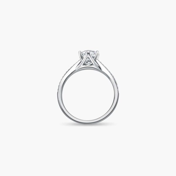 Destiny Solitaire Diamond Engagement Ring in 6 prongs