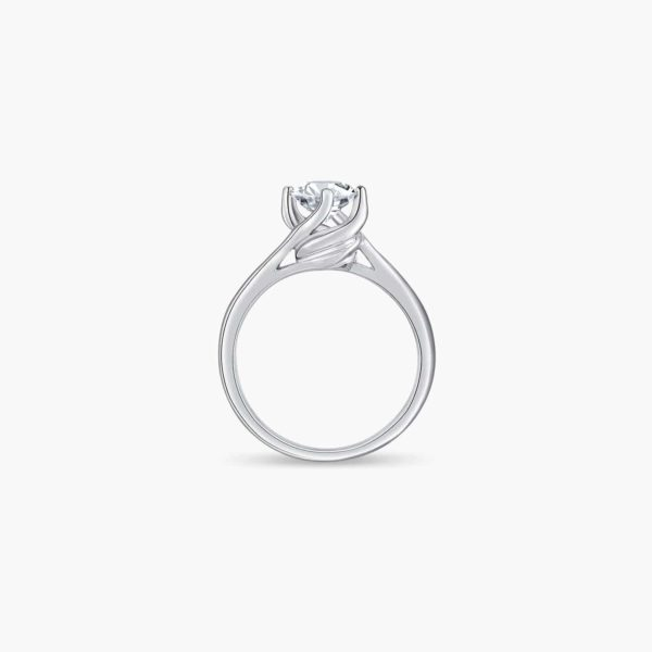 Classic Twists Solitaire Diamond Engagement Ring