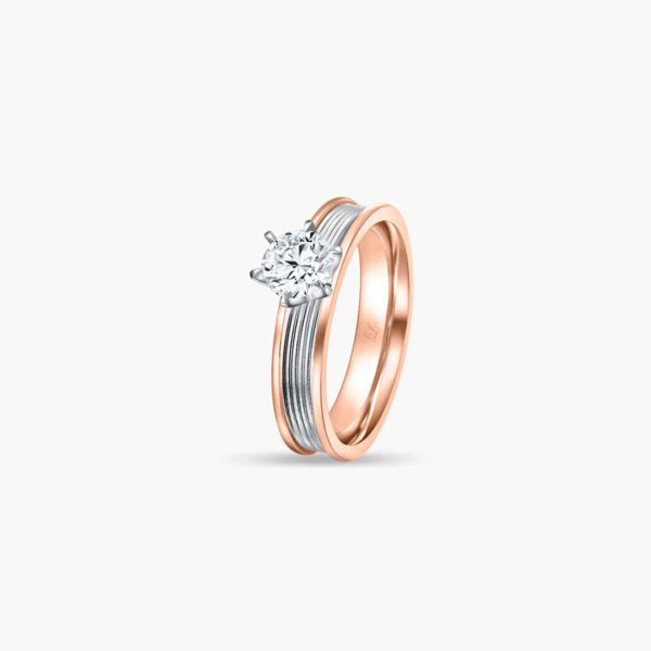 Promise (Slim) Lab Diamond Engagement Ring in Rose Gold in 6 prongs