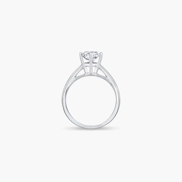 Classic Solitaire Lab Diamond Engagement Ring