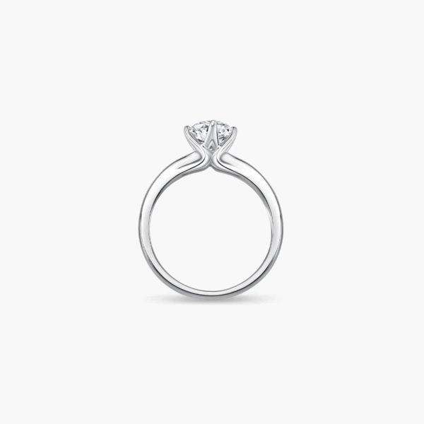 Classic Twist Solitaire Diamond Engagement Ring