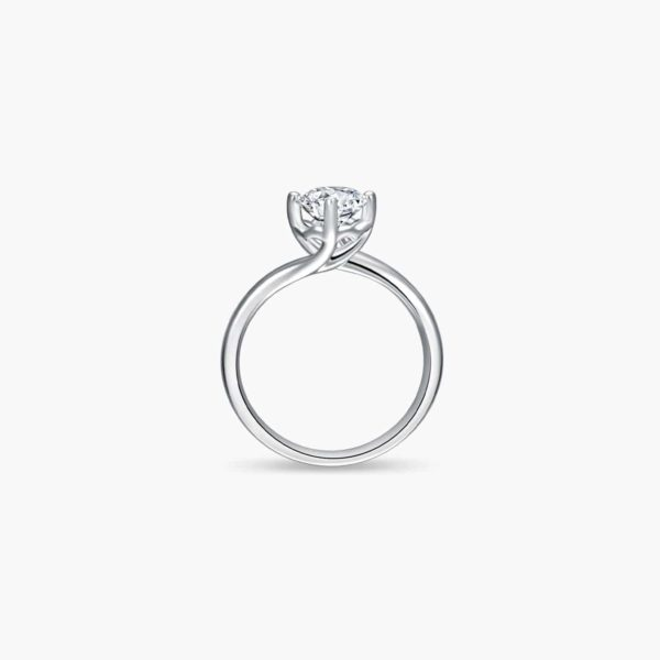 Entwine Solitaire Diamond Engagement Ring