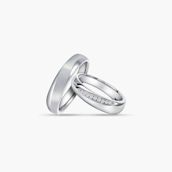 LVC Purete Trust Wedding Ring set in Platinum with Diamonds