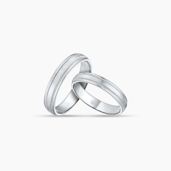 LVC Purete Wedding Ring for couples in Platinum with Milgrain Design