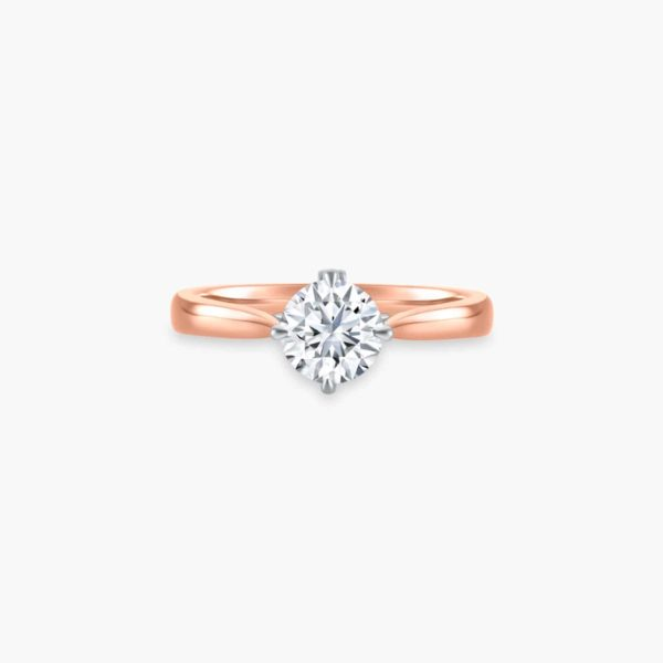 Enchante Solitaire Diamond Engagement Ring in Rose Gold