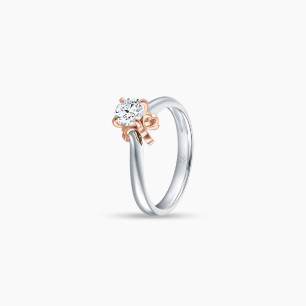 Enchante Solitaire Diamond Engagement Ring in Duo Tones