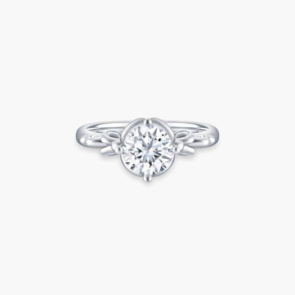 Classic Vintage Solitaire Diamond Engagement Ring