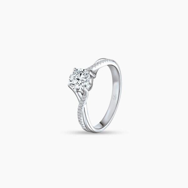 Destiny Twist Diamond Engagement Ring in 6 prongs