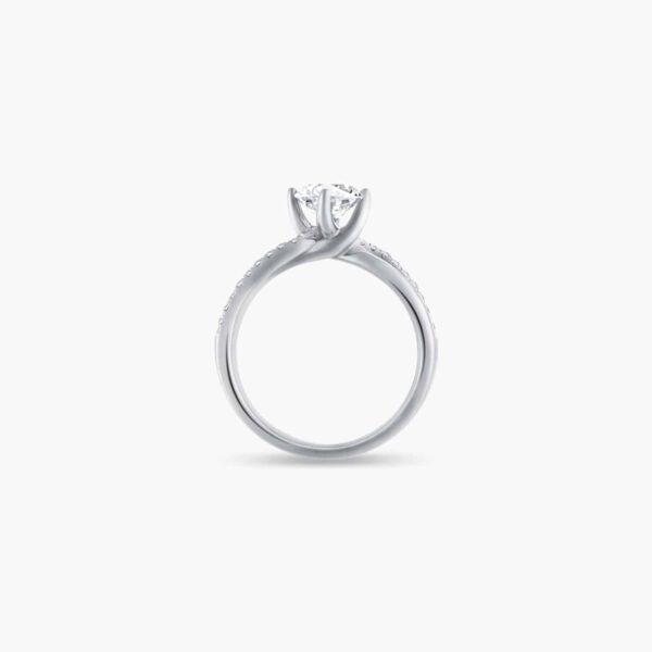 Destiny Twirl Solitaire Diamond Engagement Ring