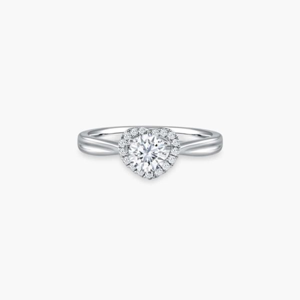 Endear Solitaire Diamond Engagement Ring in Heart Shaped Setting
