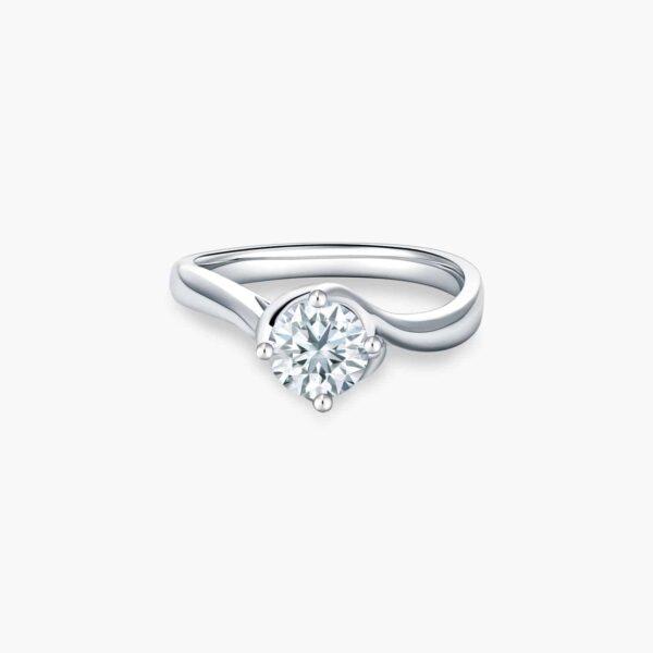 Classic Twists Diamond Engagement Ring