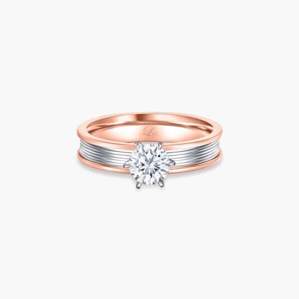 Promise (Slim) Diamond Engagement Ring in Rose Gold in 6 prongs