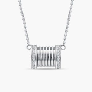 LVC Promise Diamond Necklace in 18k white gold