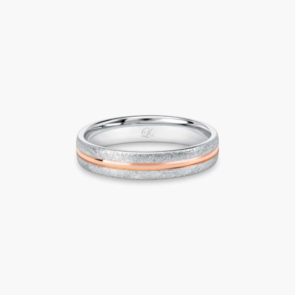 LVC Soleil Wedding Ring for men in Matte and Glossy Finish
