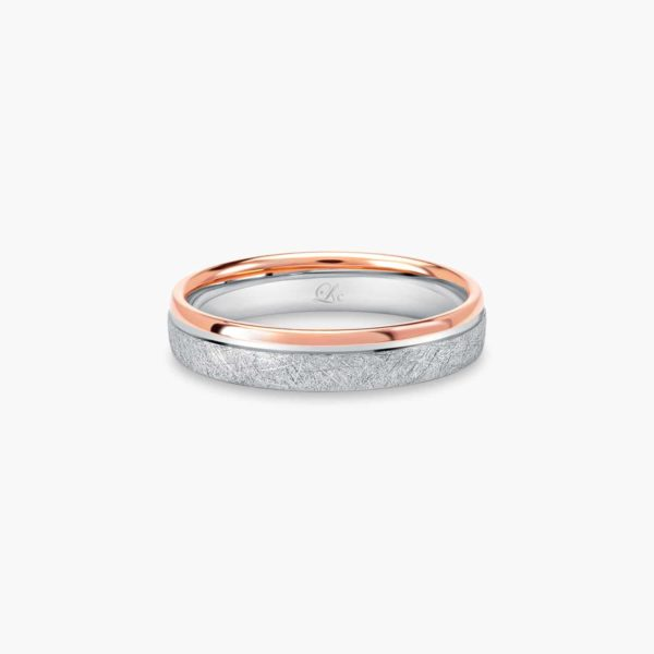 LVC Soleil Men's Wedding Band in dual matte and glossy finish