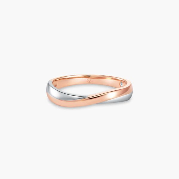 LVC Perfection Bliss Women's Wedding Ring in White and Rose Gold