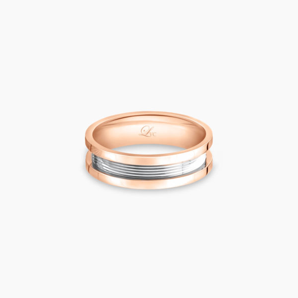 LVC Promise Pure Men's Wedding Ring in Rose Gold