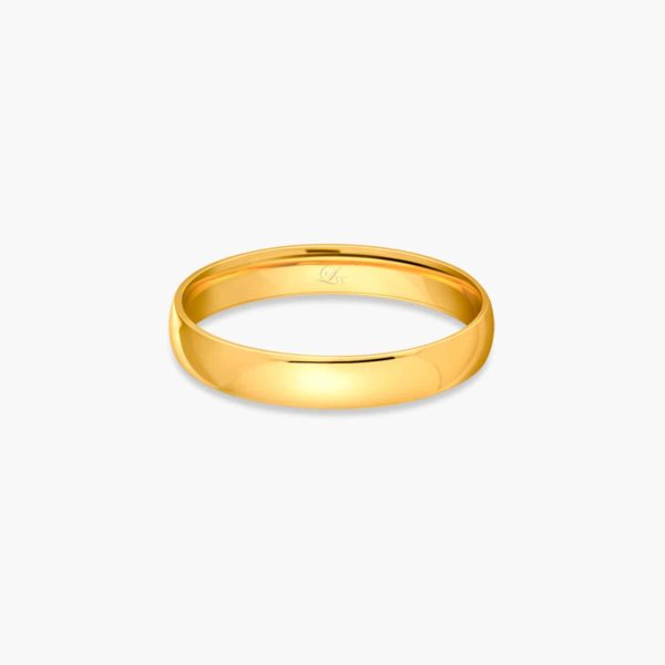 LVC Classique Men's Wedding Band in Yellow Gold