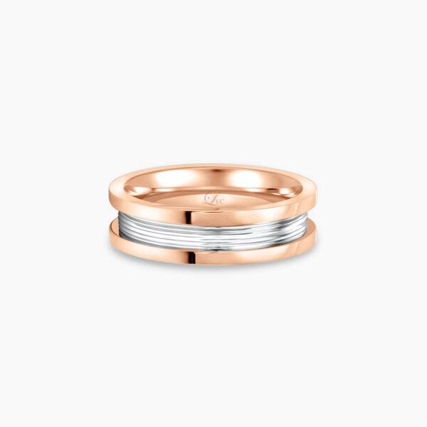 LVC Promise Pure Slim Men's Wedding Ring in Rose Gold