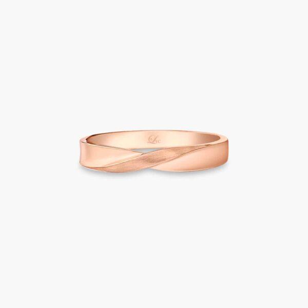 LVC Desirio Infinity Men's Wedding Ring in Rose Gold