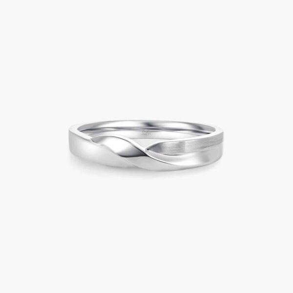 LVC Desirio Twist Men's Wedding Ring in White Gold