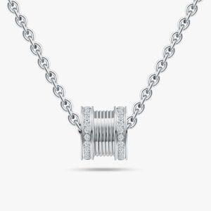 LVC Promise Full Diamond Necklace in 18K White Gold