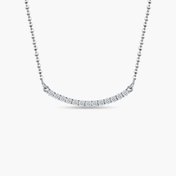 LVC Eterno Diamond Necklace in 18K White Gold