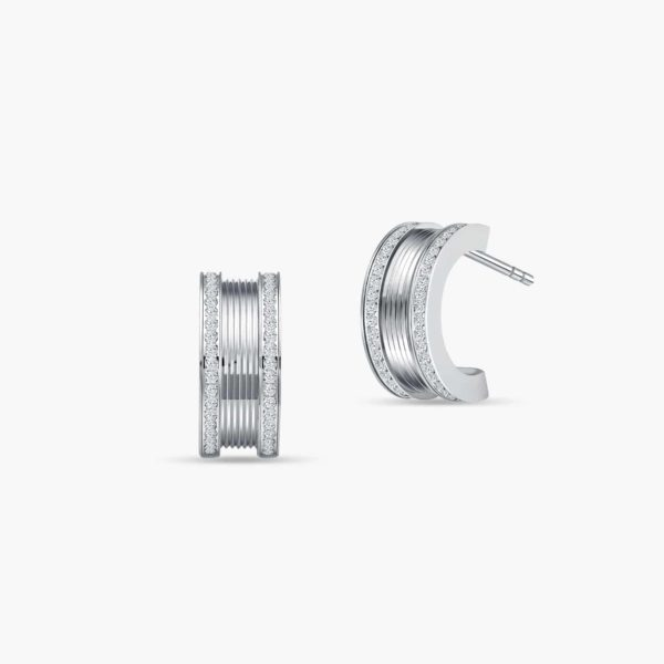 LVC Promise Diamond Earrings in 18k White Gold