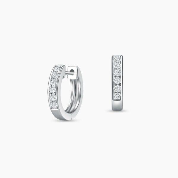 LVC Eterno Half Eternity Diamond Earrings in 18k White Gold