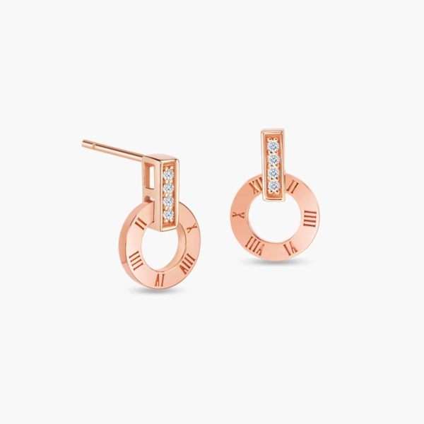 LVC Joie Millennium Diamond Earrings in 18k Rose Gold