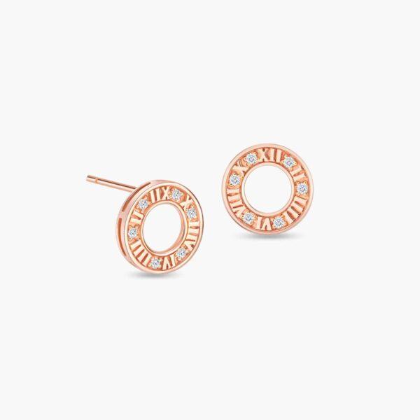 LVC Joie Centuries Diamond Earrings in 18k Rose Gold
