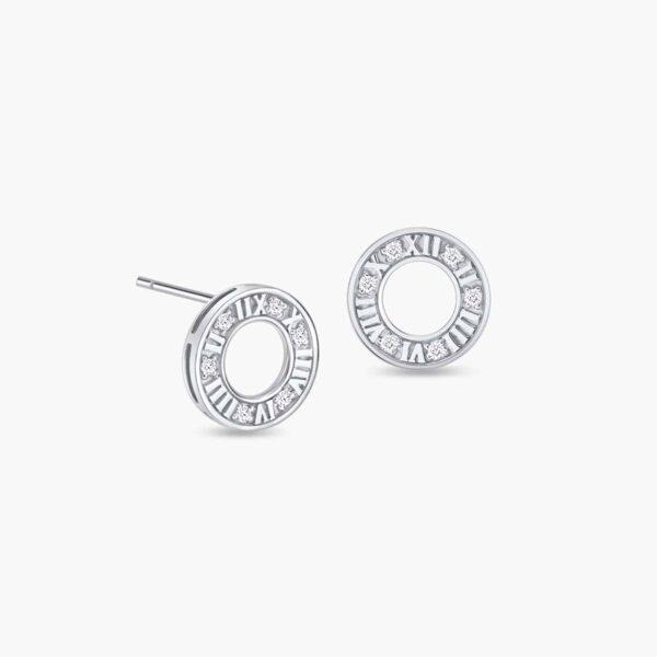 LVC Joie Centuries Diamond Earrings in 18k White Gold