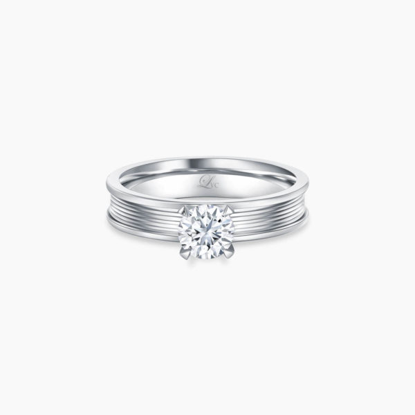 LVC Promise (Slim) Diamond Engagement Ring in White Gold in 4 prongs Malaysia