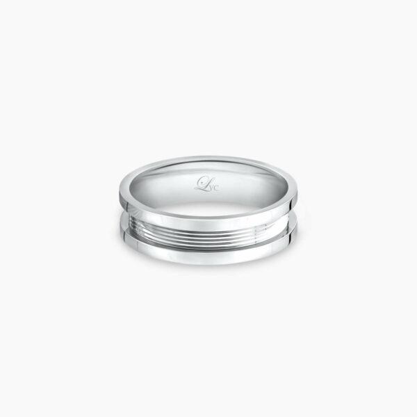 LVC Promise Pure Men's Wedding Ring in White Gold
