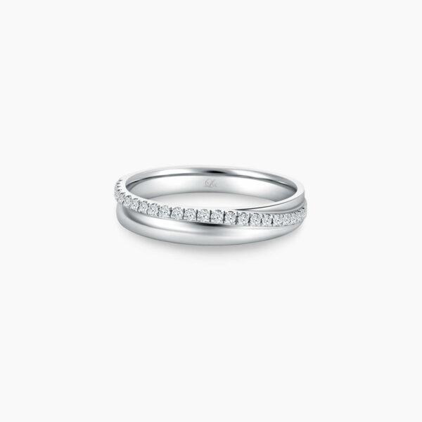LVC Purete Eternity Wedding Band for women in Platinum with Diamonds