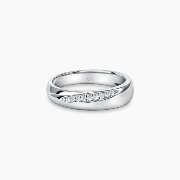 LVC Purete Trust Women's Wedding Ring in Platinum with Diamonds Inlay