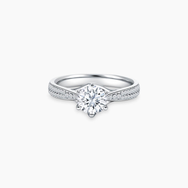 Destiny Diamond Solitaire Engagement Ring in 6 prongs